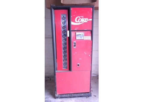 1970 COKE vending machine, clean, solid, must see!
